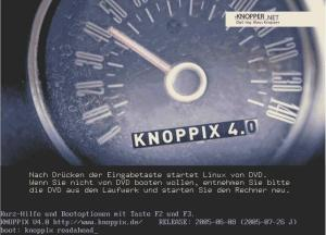 Knoppix4.0起動画面