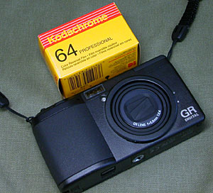 Ricoh GR Digital and Kodak Kodachrome 64 Professional Film