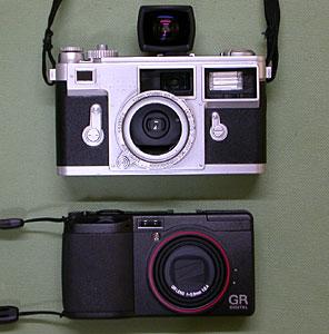 ラピタ特製クラシックカメラカバー + リコーGV-1 and GR DIGITAL