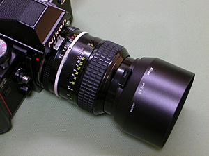 HS-14 Hood with Ai Nikkor 105mm F2.5 and Nikon F3
