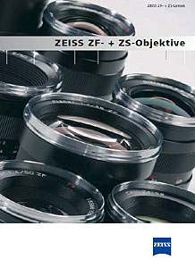 Carl Zeiss ZF + ZS Lenses catalogue