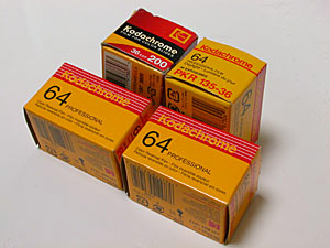 Kodachrome 64 Professional (PKR) and Kodachrome 200 (KL)