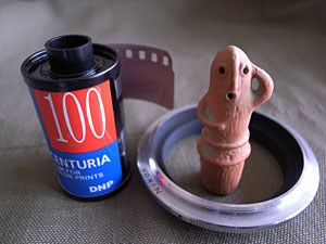 DNP CENTURIA 100,Nikon BR-2A ring and Haniwa
