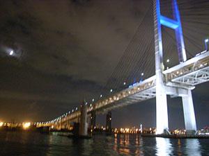 横浜ベイブリッジ:GR DIGITAL、28mm相当、1/2sec、F2.4開放、ISO400、+-0EV、プログラムAE