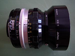 NIKKOR-S・C Auto 50mm F1.4 (Ai改) + HS-1