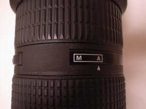 Ai AF Zoom-Nikkor ED 80-200mm F2.8D <NEW>のM-A切り替えリング