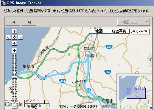 SONY GPS-CS1Kによる寝台特急北陸号の軌跡