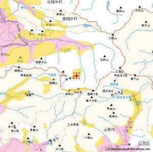 ドコモエリアマップ長野県川上村付近