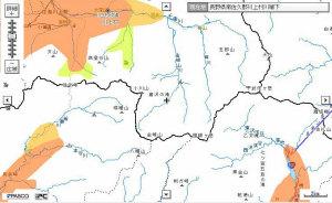 auエリアマップ長野県川上村付近