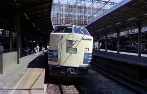 特急明星(583系、新大阪駅、1978年頃):Asahi Pentax SV、Super Takumar 55mm F1.8、Kenko Skylight filter、小西六 Sakuracolor II、Nikon SUPER COOLSCAN 5000 ED(ICEありGEMなし)