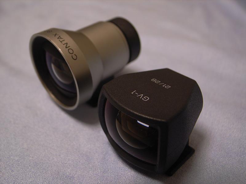 Biogon T* 21mm F2.8用外部ファインダー「GF-21mm」とRicoh GR DIGITAL用外部ファインダーGV-1