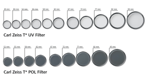 T* UV und POL Filter von Carl Zeiss /T* UV and POL filters from Carl Zeiss