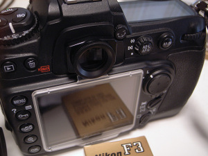 Nikon D300 + DK-22 + F3用接眼補助レンズ(+1dpt)