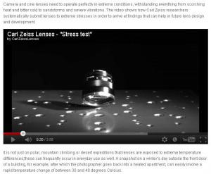 Stress test for lenses (Carl Zeiss Camera Lense Blog)