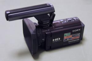 SONY ガンズームマイクロフォンECM-HGZ1 + HDR-CX590V