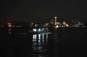 横浜港:Nikon D300、AF-S DX NIKKOR 18-55mm f/3.5-5.6G VR、55mm、F5.6開放、1/8秒、VR:ON、AWB、ピクチャーコントロール:ポートレート、Nikon NCフィルター、ISO3200、-1.0EV、MB-D10、HK-2