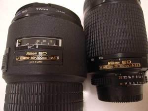 Ai AF Zoom-Nikkor 80-200mm f/2.8D ED <NEW> and Ai AF Zoom-Nikkor ED 70-300mm F4-5.6D