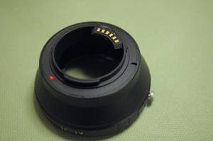 ロシア製CPUチップ付きNikon 1- Nikon Fマウントアダプター