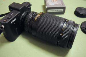 ロシア製CPUチップ付きNikon 1- Nikon Fマウントアダプター + Nikon 1 V1 + Ai AF Zoom-Nikkor ED 70-300mm F4-5.6D