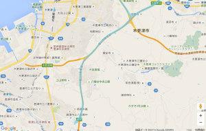 東京湾アクアライン 地図データ(c) Google ZENRIN