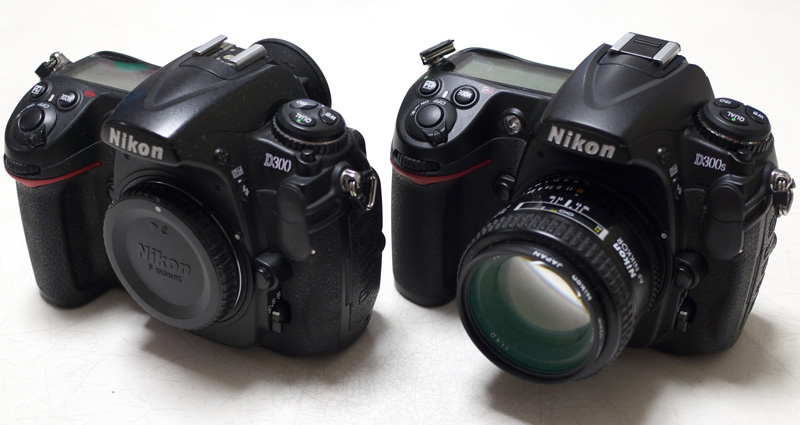 Nikon D300(左)とD300S + Ai AF Nikkor 50mm f1.4D(右)