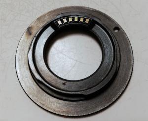 ロシア製Gfotoタンポポチップ付きCマウントレンズ → Nikon 1ボディ用マウントアダプター