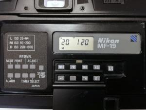 Nikon F-301用データバックMF-19(初期型)(2020年1月20日現在の表示)