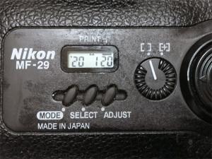 Nikon F100用データバックMF-29(2020年1月20日現在の表示)
