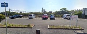 【画像7】大原駅前無料駐車場(Googleストリートビュー)