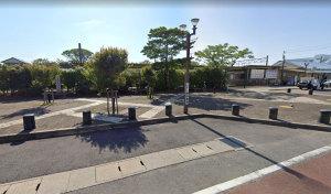 【画像8】大原駅前一時停車場(Googleストリートビュー)