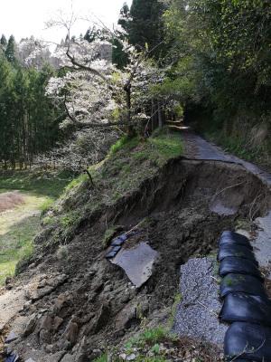 【写真2】柿木台第一トンネルと柿木台第二トンネルの間の道路崩落現場(千葉県市原市):Huawei P20 lite(ANE-LX2J)、3.81mm(35mm版26mm相当)、F2.2開放、1/206.5秒、ISO50、プログラムAE、AWB