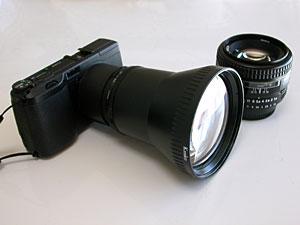 Kenko LHG-17 Tele-Conversion Lens and Ricoh GR DIGITAL