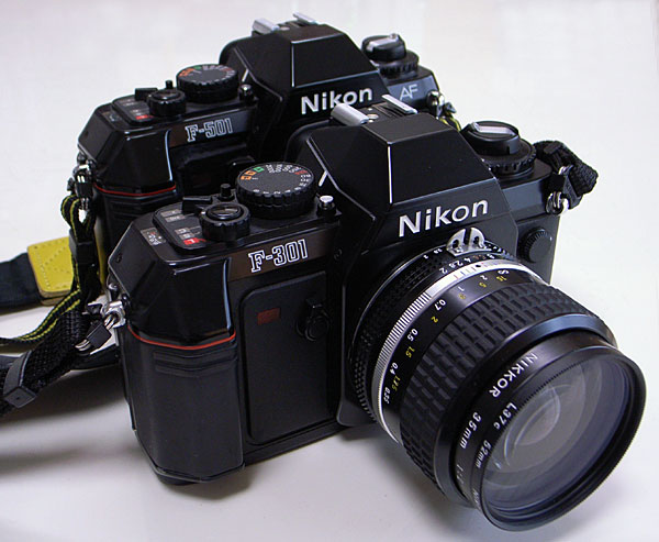 Nikon F-301 with Ai Nikkor 35mm F2S (L37C) and Nikon F-501