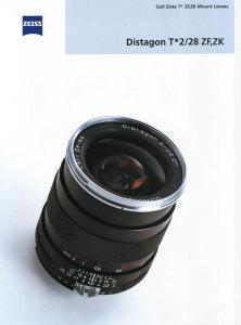 Carl Zeiss Distagon T* 2/28 ZF Catalog