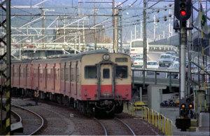キハ35国鉄奈良線京都駅(1978年頃):Asahi Pentax SV、SMC Takumar 200mm F4、Sakuracolor II、絞り・シャッタースピード不明、Nikon SUPER COOLSCAN 5000ED