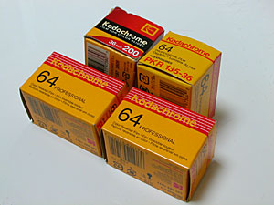 Kodak Kodachrome 64(KR),Kodachrome 64 Professional(PKR) and Kodachrome 200(KL)