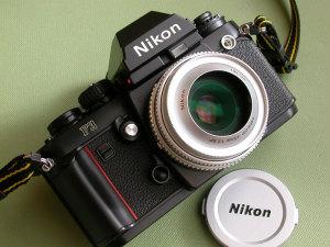 Ai Nikkor 45mm F2.8P + HN-35 + 52mm NC Filter for 45mm f/2.8P+ Nikon F3