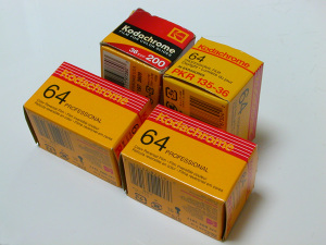 Kodak Kodachrome 64 PRO(PKR) and Kodachrome 200(KL) 135-36ex