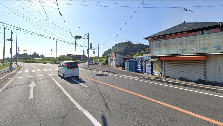 【画像4】国道465号深堀バイパス分岐(Googleストリートビュー2019年5月)