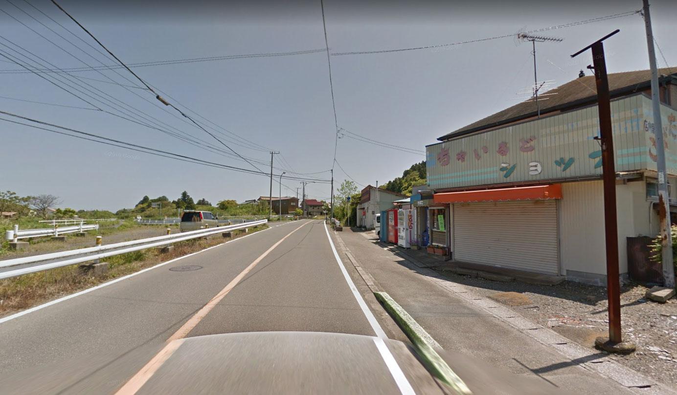 【画像5】国道465号深堀バイパス分岐(Googleストリートビュー2014年5月)