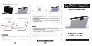 上海問屋 ノートPC用・クリップ固定式 調光機能付きLEDバーライト DN-916025 取扱説明書2