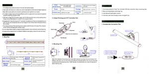 上海問屋 ノートPC用・クリップ固定式 調光機能付きLEDバーライト DN-916025 取扱説明書1