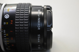 Ai Micro-Nikkor 55mm f/2.8S + Kenkoステップアップリング52mm→55mm + LC-55A