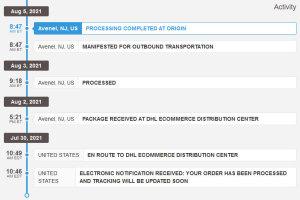 DHL eCommerce Tracking(B&HでNikon HN-13を買ったの巻)