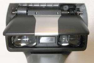 富士通PFUオーバーヘッドスキャナScanSnap SV600/FI-SV600Aのヘッドを下から見たところ